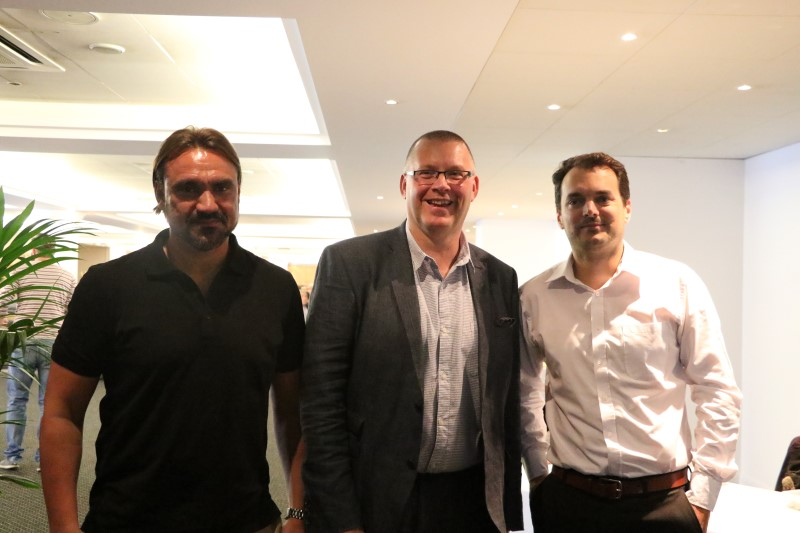 Daniel Farke, Steve Stone and Stuart Webber