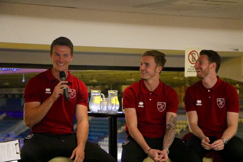 Christoph Zimmermann, James Maddison and James Husband
