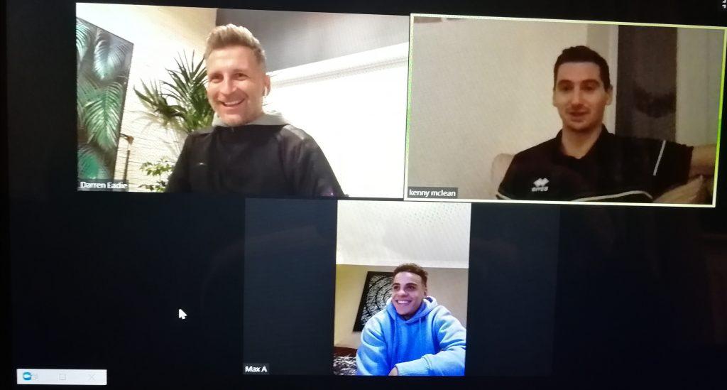 Darren Eadie, Kenny McLean and Max Aarons